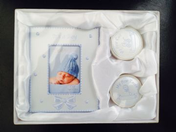 It's A BOY Photo Frame & First Tooth/Curl Set